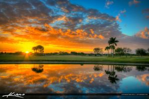 Beautiful-Sunset-Over-Abacoa-Golf-Course-in-Jupite by CaptainKimo