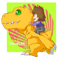 Team Courage ~ Taichi and Agumon by NPC-Dion
