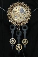 Steampunk brooch by Anthyslily