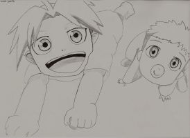 Happy Edward and Alphonse Elric by TheLonelyMoon8