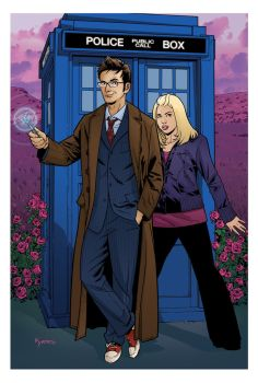 10th Doctor and Rose by KellyYates