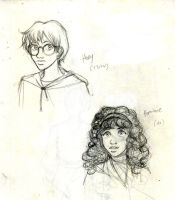 HP characters sketches 1 by Noe-Izumi