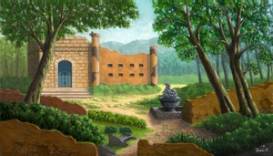 An Old Temple by abyss1956