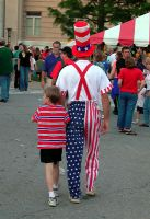 Uncle Sam and Son by isha-1
