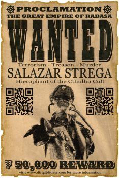 Salazar Strega Wanted Poster by Guerrilla97
