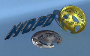 NOPD Badge 3D Abstract by tempest790