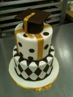 Two Tiered Graduation Cake by Spudnuts