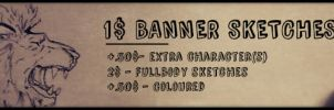 1$ Banner Sketches -OPEN- by nightstrikers
