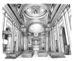 Sketch: Church of the Jesus, Rome by Elyren