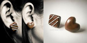 Chocolate Earrings by CreativeAbubot