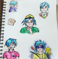 2D doodles from a little while ago by jenisnotcool