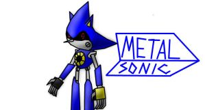 Metal Sonic iScribble by blase005
