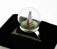 Little tiny rainbow teepee ring by Xerces