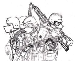 RTD Valiant - Fire Team Sketch by renzoku