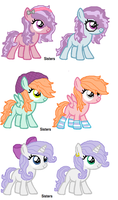 Adoptable 10- Sisters! by MintMuffins