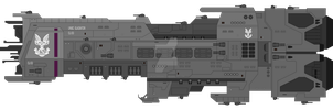 UNSC Gladiator-class light cruiser by SplinteredMatt