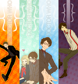 Doctor Who bookmarks by milkiestars