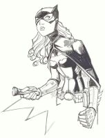 sketchy : Batgirl by KidNotorious