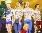 TLIID - Spring Break Avengers wet t-shirt contest by Nick-Perks