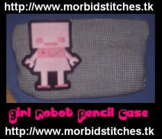Girl Robot Pencil Case by morbid-stitches