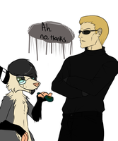 with dick hanging out by MintMongoose