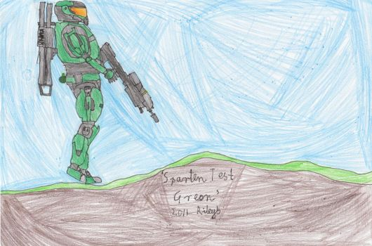 Green Halo Reach Spartan by Drako-Rogue