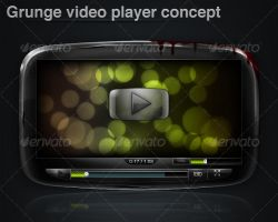 Grunge video player concept by m1r1