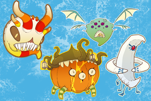 October Monster stickers by SolomonMars