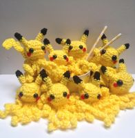 Pikachu Octopi by Kisses-or-Stitches