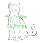 Feline Lineart 1 by sassyheart-adopts