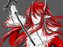 Red Gray Black White by Michron