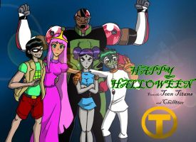 Happy Halloween from Titans' Tower by Chill8ter
