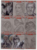 Star Wars Sketch Cards by DavidRabbitte