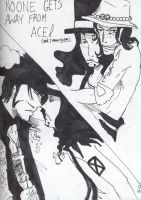 Lucci and Mihawk and Ace by Ai-Lupin