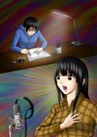 Bakuman - Mashiro and Azuki by jeffri-h