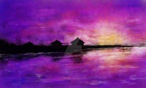 Purple sunset by LCraquel