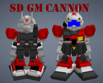 SD GM Cannon by lordvipes