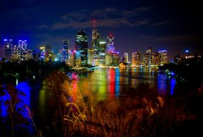 Brisbane city duo by Beer-Bottle-Photo