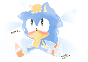 classic sonic and a friend .:collab:. by chippuuuu