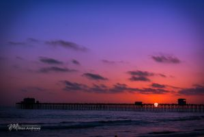 Oceanside Pier Sunset by Milton-Andrews