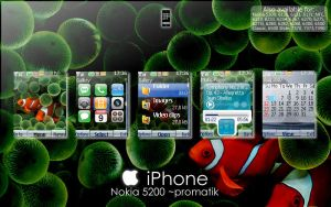 iPhone Theme Nokia 5200 by Promatik