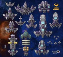 Stars in Shadow: Ashdar Ships Faction Recolor by AriochIV