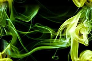 Green Smoke Seamless Tile by cf33092
