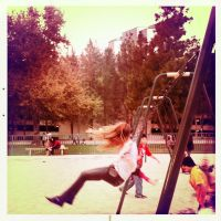 Claire on a swing by Sajextryus