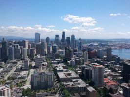 Seattle from the Space Needle by ThatBlueGuy