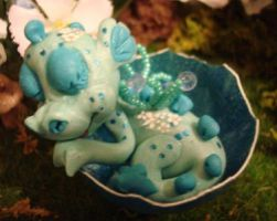polymer clay dragon snuggles by crazylittlecritters