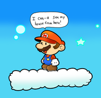 AT: Paper Mario in The Overthere by MechanicalOven
