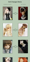 Doll meme: All dolls by Amber-Kyou