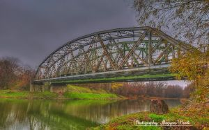 The Danube-River.Hungary.(Old Bridge.)HDR. by magyarilaszlo