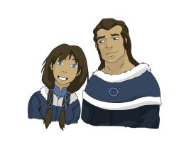 Korra's Parents - Senna and Tonraq by the-rose-of-tralee